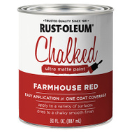 Rust-Oleum 329211 Chalked Ultra Matte Interior Chalked Farmhouse Red 30 Ounce