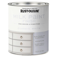 Rust-Oleum 331049 Chalked Interior Milk Matte Brushed Finish White 30 Ounce