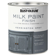 Rust-Oleum 331053 Chalked Interior Milk Matte Brushed Finish Kensington Gray 30 Ounce