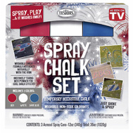 Testors 333618 Matte Washable Spray Chalk Red White & Blue 3 Piece Set 12 Ounce