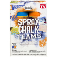 Testors 334336 Matte Washable Spray Chalk Orange & Blue 2 Piece Set 12 Ounce