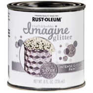 Rust-Oleum 345699 Paint Intense Glitter Slvr 8 Ounce