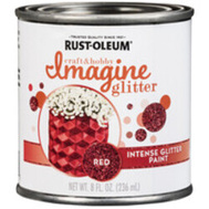 Rust-Oleum 350119 Paint Intense Glitter Red 8 Ounce