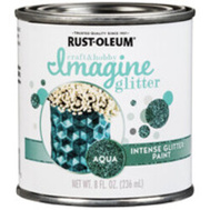 Rust-Oleum 350118 Paint Intense Glitter Aqua 8 Ounce