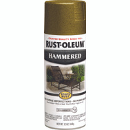 Rust-Oleum 7210830 Stops Rust Hammered Metal Finish Spray Gold 12 Ounce
