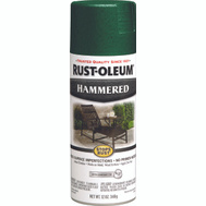 Rust-Oleum 7211830 Stops Rust Hammered Metal Finish Spray Deep Green 12 Ounce