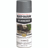 Rust-Oleum 7214830 Stops Rust Hammered Metal Finish Spray Gray 12 Ounce