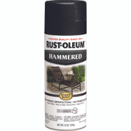 Rust-Oleum 7215830 Stops Rust Hammered Metal Finish Spray Black 12 Ounce