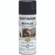 Rust-Oleum 7250830 Stops Rust Black Night Metallic 11 Ounce Spray