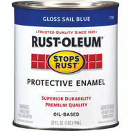 Rust-Oleum 7724502 Stops Rust Sail Blue Gloss Rust Protective Enamel Quart Oil