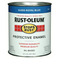 Rust-Oleum 7727502 Stops Rust Royal Blue Gloss Rust Protective Enamel Quart Oil