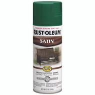 Rust-Oleum 7732830 Stops Rust Hunter Green Protective Satin Enamel Spray