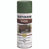 Rust-Oleum 7737830 Stops Rust Spruce Green Satin Protective Spray Enamel 12 Ounce