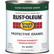 Rust-Oleum 7738502 Stops Rust Hunter Green Gloss Rust Protective Enamel Quart Oil
