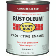 Rust-Oleum 7765502 Stops Rust Regal Red Gloss Rust Protective Enamel Quart Oil