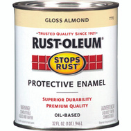 Rust-Oleum 7770502 Stops Rust Almond Gloss Rust Protective Enamel Quart Oil