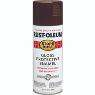 Rust-Oleum 7775830 Stops Rust Leather Brown Gloss Protective Enamel Spray