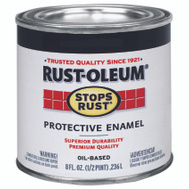 Rust-Oleum 7777730 Stops Rust Black Satin Rust Protective Enamel 1/2 Pint Oil