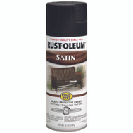 Rust-Oleum 7777830 Stops Rust Black Satin Protective Spray Enamel 12 Ounce