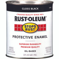 Rust-Oleum 7779504 Stops Rust Black Gloss Rust Protective Enamel Quart Oil