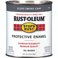 Rust-Oleum 7786502 Stops Rust Smoke Gray Gloss Rust Protective Enamel Quart Oil