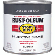 Rust-Oleum 7786730 Stops Rust Smoke Gray Gloss Rust Protective Enamel 1/2 Pint Oil