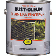 Varathane 7787402 Stops Rust Metallic Silver Chain Link Fence Paint Gallon Oil Based