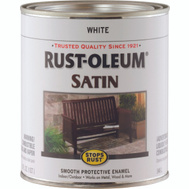Rust-Oleum 7791502 Stops Rust White Satin Rust Protective Enamel Quart Oil