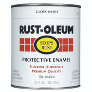 Rust-Oleum 7792504 Stops Rust White Gloss Rust Protective Enamel Quart Oil
