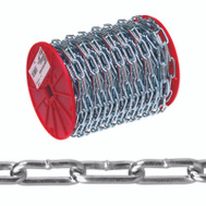 Campbell Chain 0723627 Straight Link Coil Chain 2/0 By 125 Foot Zinc Plated Steel
