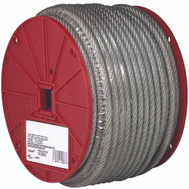 Campbell Chain 7000397 Steel Cable 3/32 Inch Vinyl Coated To 3/16 By 250 Foot Galvanized Clear