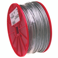 Campbell Chain 7000427 Uncoated Cable 1/8 Inch By 500 Foot Galvanized Steel