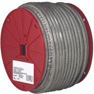 Campbell Chain 7000497 Steel Cable 1/8 Inch Vinyl Coated To 3/16 By 250 Foot Galvanized Clear