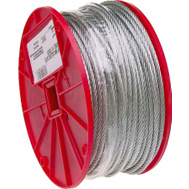 Campbell Chain 7000627 Uncoated Cable 3/16 Inch By 250 Foot Galvanized Steel