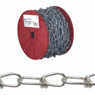 Campbell Chain 0722027 Double Loop Chain 2/0 By 155 Foot Zinc Plated Steel