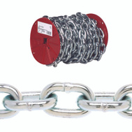 Campbell Chain 0722327 Proof Coil Chain 3/8 Inch By 35 Foot Zinc Plated Steel