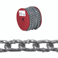Campbell Chain 0722527 Twist Link Machine Chain 2/0 By 70 Feet Zinc Plated Steel