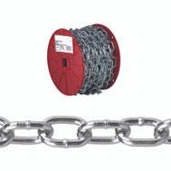 Campbell Chain 0722927 Passing Link Chain 2/0 By 125 Foot Zinc Plated Steel