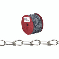 Campbell Chain 0722627 Double Loop Chain 1/0 By 125 Foot Zinc Plated Steel