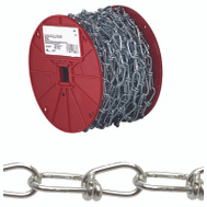 Campbell Chain 0722087 Double Loop Chain 2/0 By 60 Foot Zinc Plated Steel