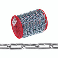 Campbell Chain 0722827 Straight Link Chain 2/0 40 Foot Zinc Plated Steel