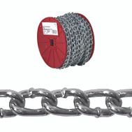 Campbell Chain 0726627 Twist Link Machine Chain #2 By 125 Feet Zinc Plated Steel
