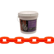 Campbell Chain 0231912 High Test Tow Chain With Clevis Hooks 5/16 Inch By 12 Foot Hi Visibility Orange Polycoat