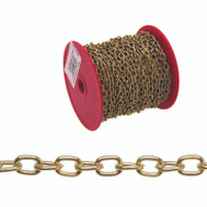 Campbell Chain 0711917 Oval Link Hobby Chain #19 By 82 Foot Brass Plated Steel