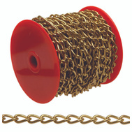 Campbell Chain 0717017 Hobby And Craft Twist Chain #70 By 82 Feet Brass Plated Steel