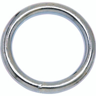 Campbell Chain T7661152 Welded Ring 2 Inch Inside Diameter Zinc Plated Steel
