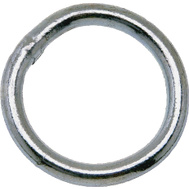 Campbell Chain T7661361 Welded Ring 2-1/2 Inch Inside Diameter Zinc Plated Steel