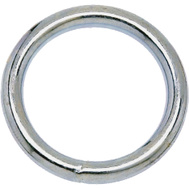 Campbell Chain T7662154 Welded Ring 2 Inch Inside Diameter Polished Solid Bronze
