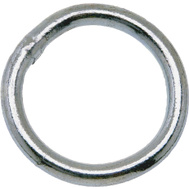 Campbell Chain T7660841 Welded Ring 1-1/4 Inch Inside Diameter Zinc Plated Steel