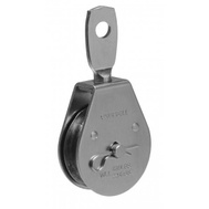 Campbell Chain T7550302 Swivel Eye Pulley 2 Inch For 3/8 Inch Rope Zinc Plated Steel
